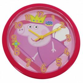 PEPPA PIG OROLOGIO DA PARETE ROSSO / RED WALL CLOCK diam 25cm