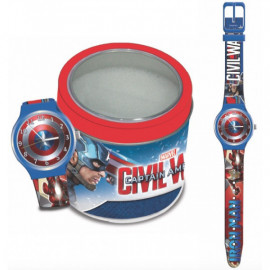 MARVEL KID WATCH Mod.  CAPITAIN AMERICA - Tin Box
