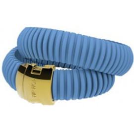 HIP HOP BIJOUX Mod. ICON LIGHT BLUE Bracciale doppio/ Double bracelet