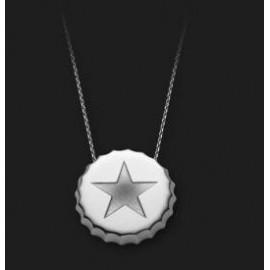 AMBROSINI JEWELS - PENDENTE ARGENTO 925° tappo finitura bianca stella