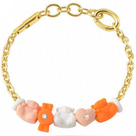 MORELLATO GIOIELLI COLOURS COLLECTION -  Bracelet BEAR CANDY HEART CHARMS