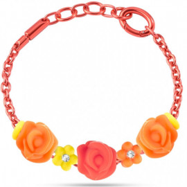 MORELLATO GIOIELLI COLOURS COLLECTION -  Bracelet ROSE FLOWER CHARMS