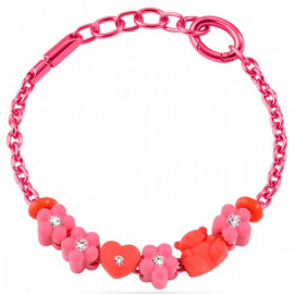 MORELLATO GIOIELLI COLOURS COLLECTION -  Bracelet FLOWER HEART BEAR CHARMS