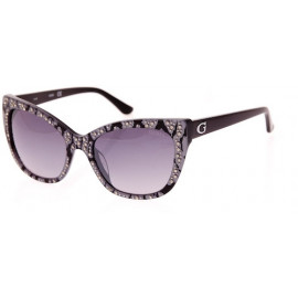 GUESS SUNGLASSES Color: BLK SPOTTED GREY Lens: GREY GRADIENT