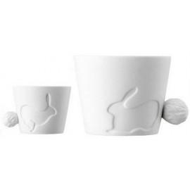 CUTE - Tazza Tè / The Cup - Mod. CONIGLIO / BUNNY - Porcellana bianca di alta qualità / First quality white porcelain - Finitu