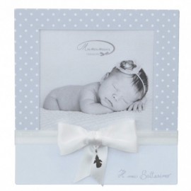 MAMAMOUR - Portafoto battesimo - bianco - con ciondolo d\'argento 925/Baptism photo frame - withe - with sterling silver 925 pen
