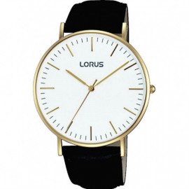 LORUS WATCHES - STAINLESS STEEL - LEATHER/CUOIO - QUARTZ - 40x47 mm - 3 ATM